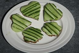 Komkommer sandwiches - sandrakookt.nl