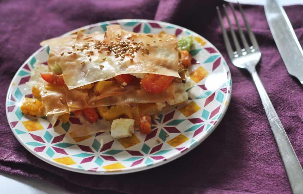 Filodeeg feta lasagne