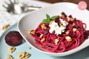 Roze spaghetti