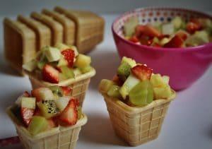 Fruitbloemen traktatie